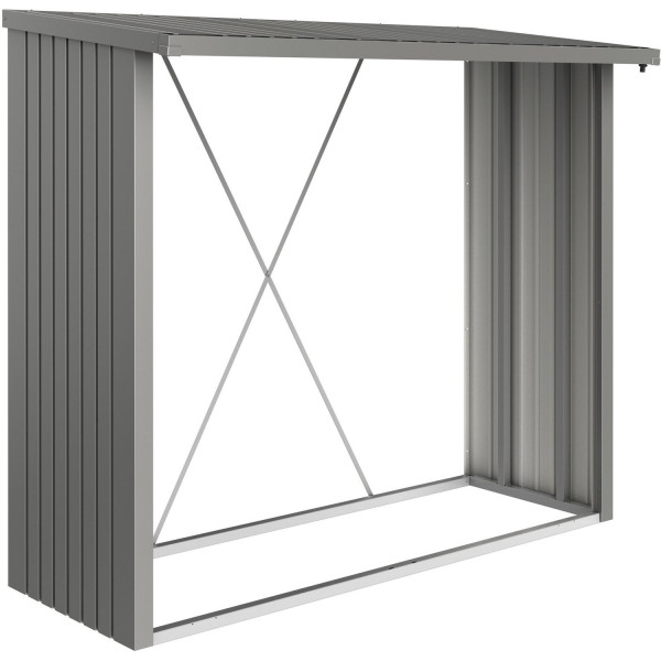 Biohort Kaminholzlager WoodStock 150 quarzgrau-metallic
