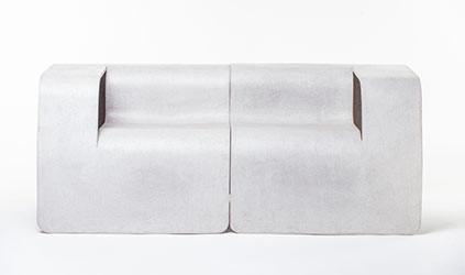 Eternit Seater Links grau