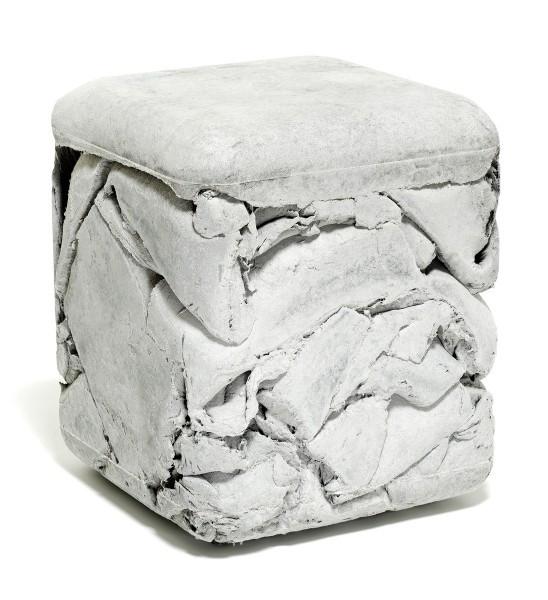 Eternit TRASH CUBE Hocker grau